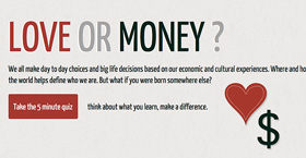 Love or Money Quiz